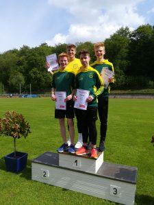 Florian Soddemann, Timon Streit, Leo Andrich und Noah Herrmanny v.l.n.r. (Foto: Christian Herrmanny)